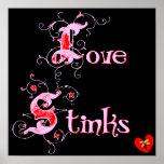 Love Stinks Anti-Valentine's Day Slogan Posters