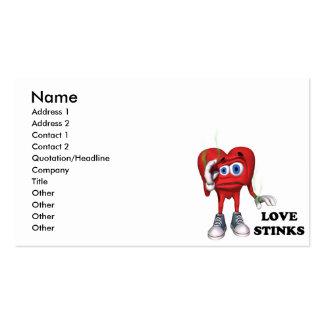 love stinks business cards