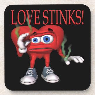 Love Stinks Drink Coaster