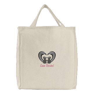Love Stinks Embroidered Tote Bag