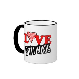 Love Stinks Gifts mug