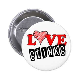 Love Stinks Gifts Pinback Button