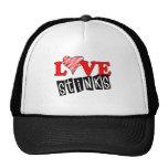 Love Stinks Gifts Trucker Hats