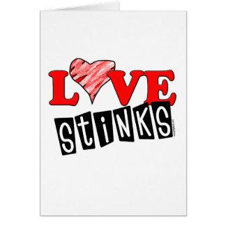 Love Stinks Greeting Cards