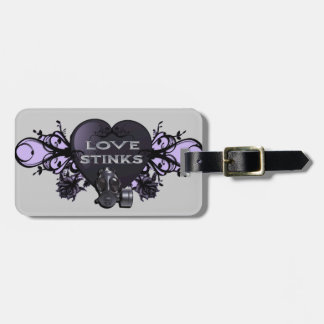 Love Stinks Heart with Gas Mask Tag For Bags