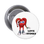 love stinks pinback buttons