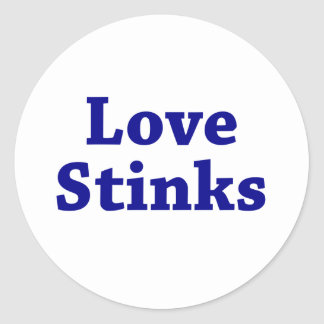 Love Stinks Round Stickers