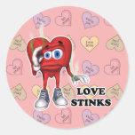 love stinks sticker