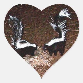 Love Stinks Heart Stickers