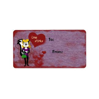 Love Stinks Valentine Gift Label
