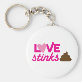 love stinks ! with poo and stink! keychain