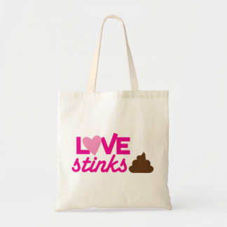 love stinks ! with poo and stink! tote bag