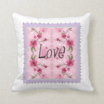 love stitched design pillow