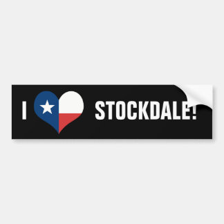 LOVE STOCKDALE BUMPER STICKER