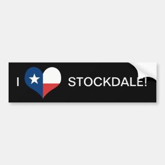 LOVE STOCKDALE CAR BUMPER STICKER