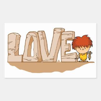 Love Stone age Sticker