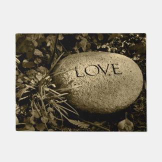 """""""Love"""" Stone Doormat"""