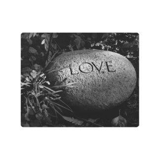 """Love"" Stone Metal Photo Print"