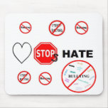 Love Stops Hate Mousepad