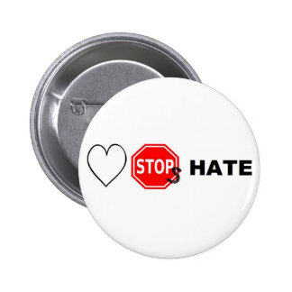 Love Stops hate Pinback Button