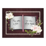 Love Story Book- Wedding Vow Renewal Card