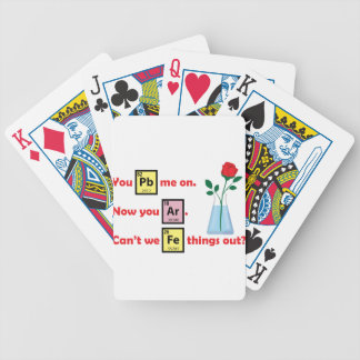 Love Story - Chemistry Style Bicycle Playing Cards