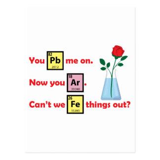 Love Story - estilo de la química Tarjetas Postales