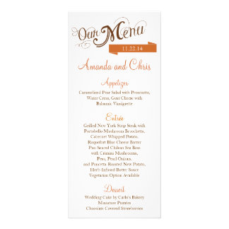 Love Story Menu Card