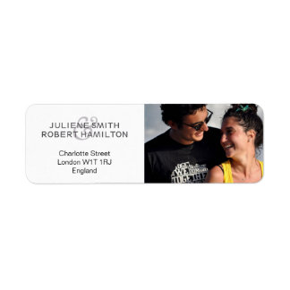 Love Story | Modern Photo Return Address Labels
