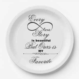 Love Story Paper Plate