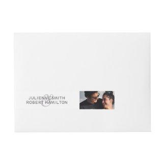 Love Story | Photo Wrap Around Address Labels