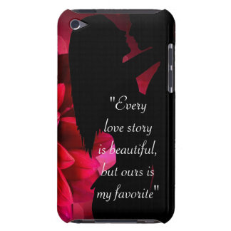 Love story quote kiss lover background barely there iPod cover