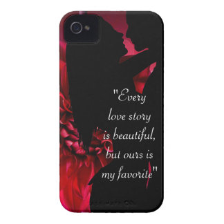 Love story quote kiss lover background iPhone 4 Case-Mate case