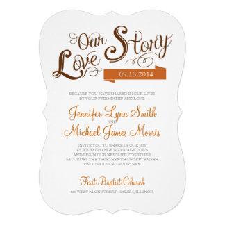 Love Story Wedding Invitation