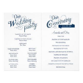 Love Story Wedding Program Flyer