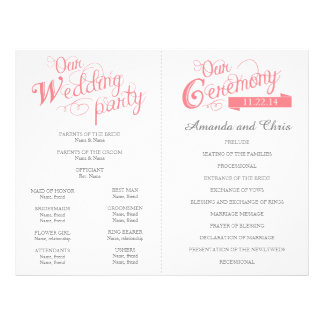 Love Story Wedding Program Flyer