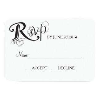 Love Story Wedding Reply Card