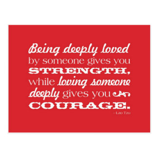 Love = Strength and Courage Postcard