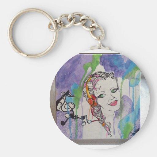 Love Struck Art Painting Keychain