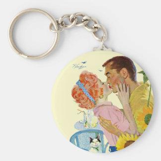Love-Struck Basic Round Button Keychain
