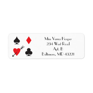 Love Struck Casino Wedding Invitation Mail Label