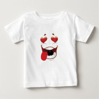 Love Struck Funny Face Baby T-Shirt