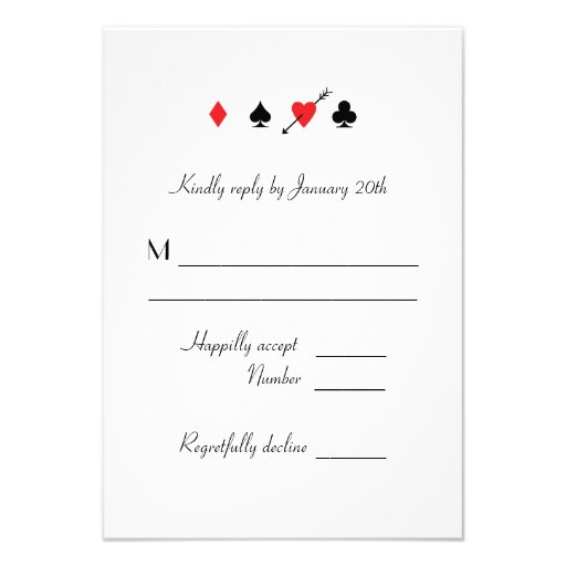 Love Struck Las Vegas Wedding RSVP reply card