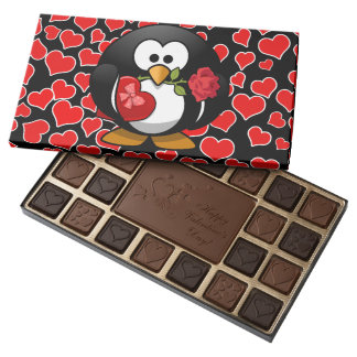 Love Struck Penguin With Valentine Gifts Assorted Chocolates