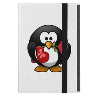 Love Struck Penguin With Valentine Gifts Cases For iPad Mini