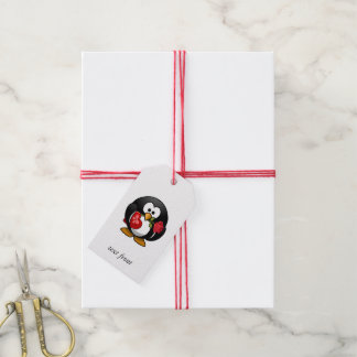 Love Struck Penguin With Valentine Gifts Gift Tags