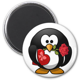 Love Struck Penguin With Valentine Gifts Refrigerator Magnets