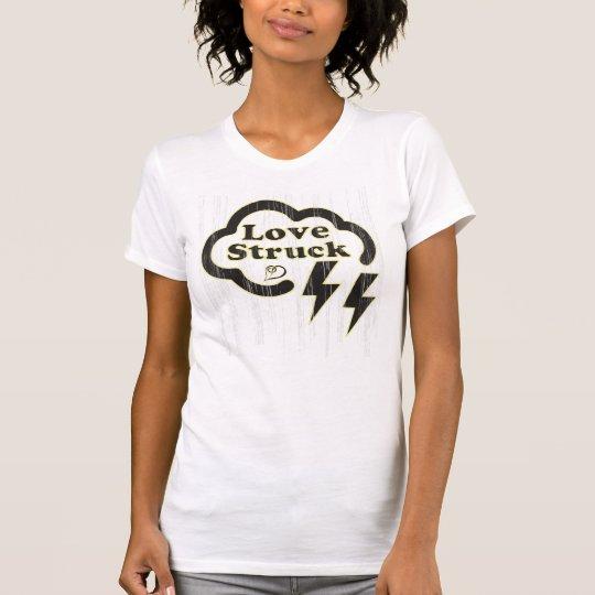 Love struck, retro graphic lightning cloud tee. T-Shirt