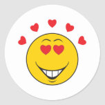 Love Struck  Smiley Face Stickers