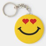 Love struck smiley keychain